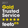 Feefo Gold Trusted Merchant logo