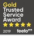 Feefo Gold Trusted Merchant logo
