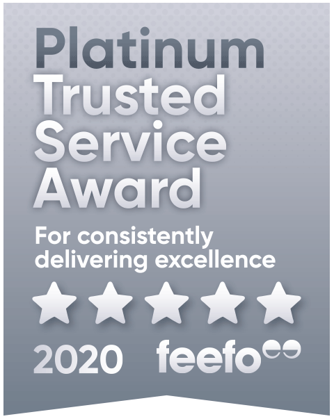 Feefo Platinum Trusted Merchant logo