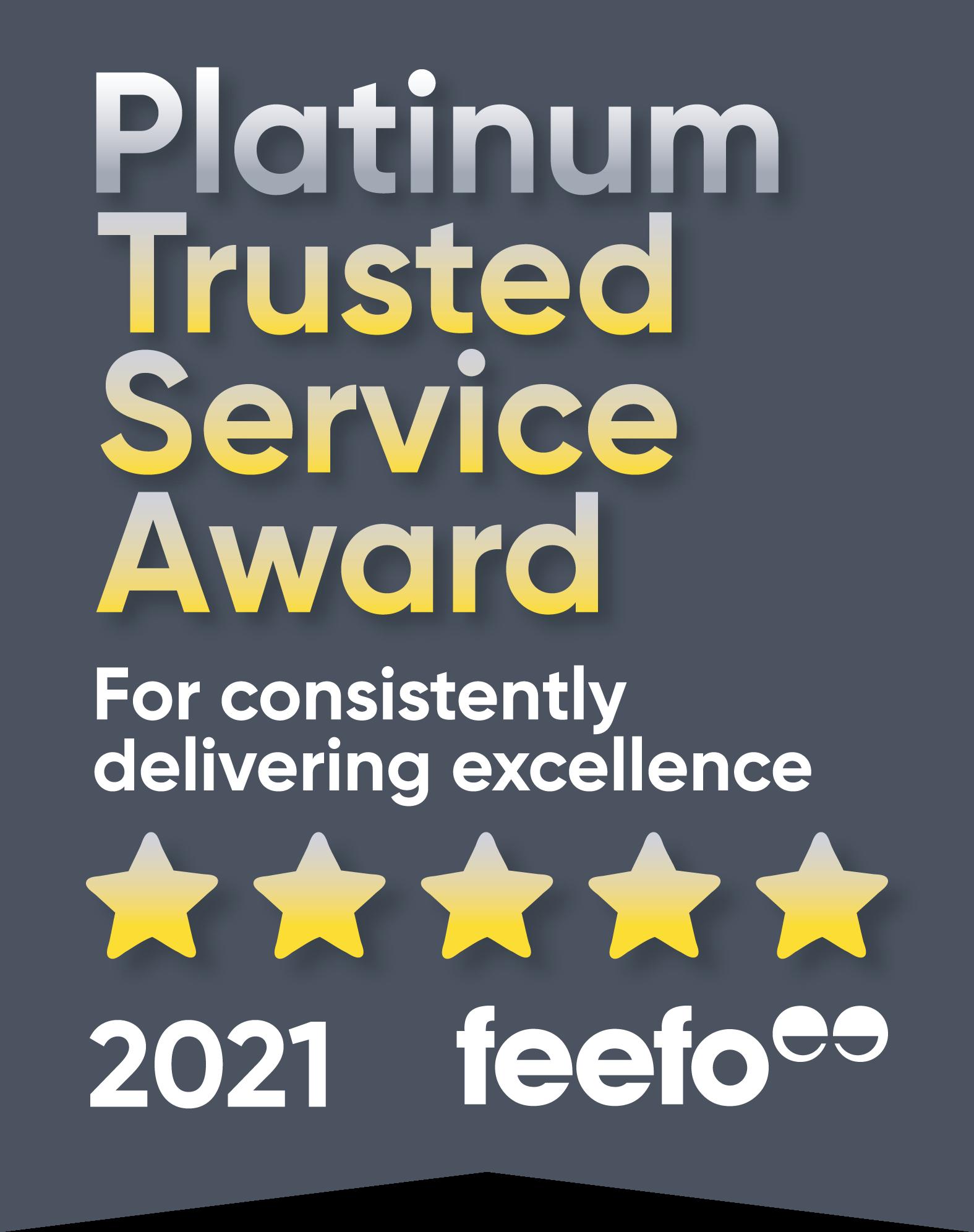 Feefo Platinum Award